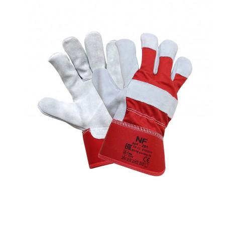 Перчатки спилковые комбинированные 201