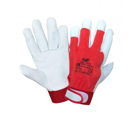 Перчатки кожаные комбинированные с регулируемой манжетой 215