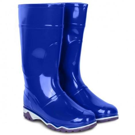 Сапоги ПВХ женские синие