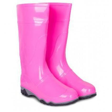 Сапоги ПВХ женские розовые